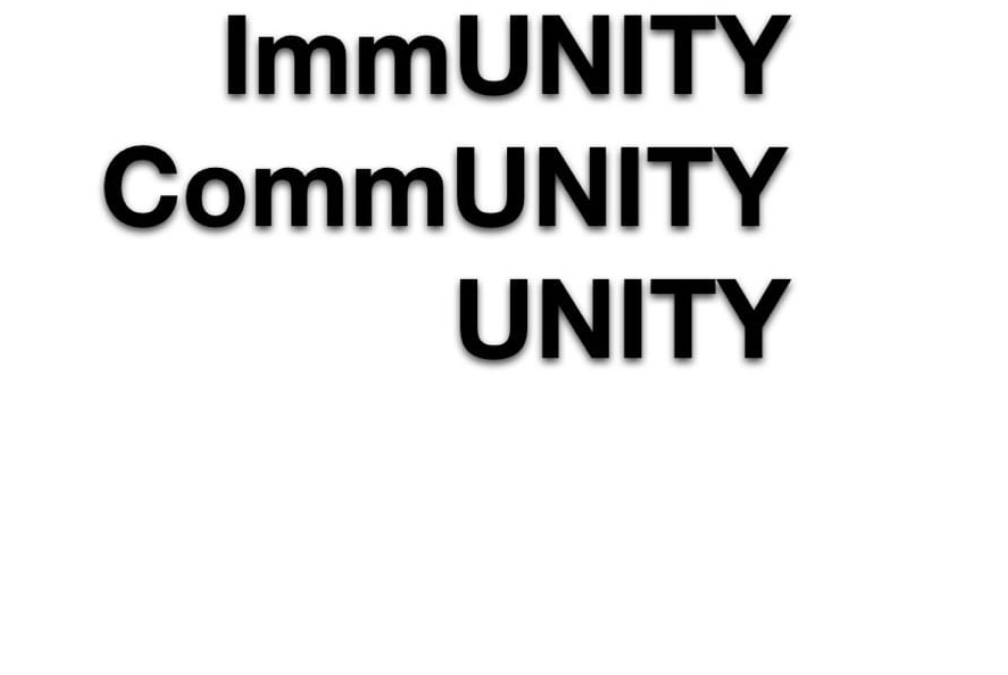 There will be no immunity without community